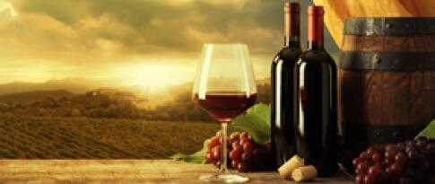 Eine Flasche Wein zum Abschied