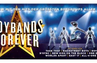 Zeitreise mit über 40 Songs der beliebtesten Boybands als Live-Show