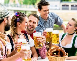 Biergarten in Muenchen