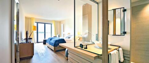 Komfort Doppelzimmer mit Elbpanorama