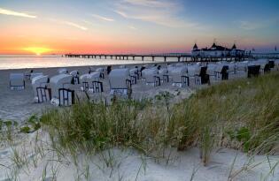 Kaiserlich im prachtvollen Hotel direkt am Strand auf Usedom entspannen
