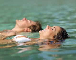 Heißes Solebad