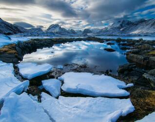 Norwegen Eis