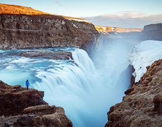 Gullfoss Wasserfall Island Rundreise