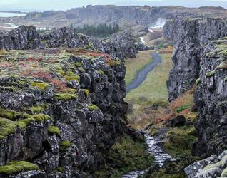 Silfraspalte im Thingvellir Nationalpark