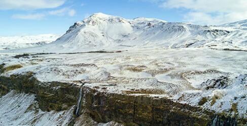 Skogafoss im Winter