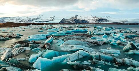 Eislagune Island Eisberge