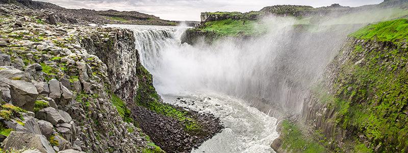 Detifoss Wasserfall Island