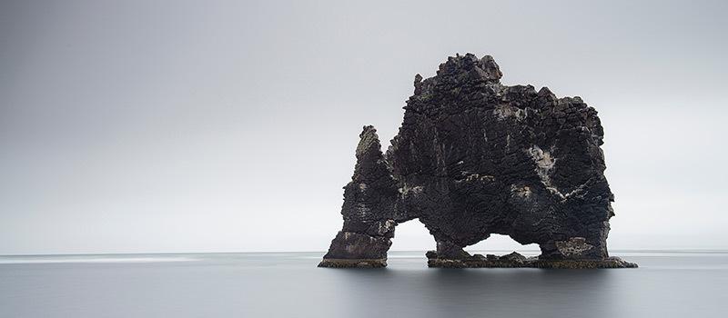 Gesteinsformation Hvitserkur bei Hvammstangi Island