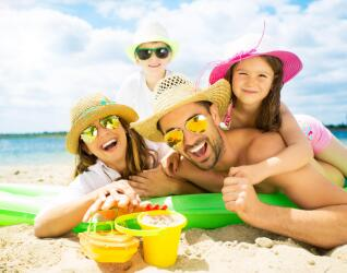 Familienurlaub am Meer