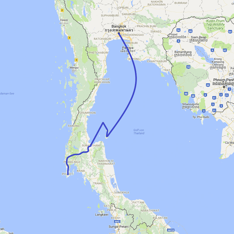 Thailand Rundreise Insel Hopping