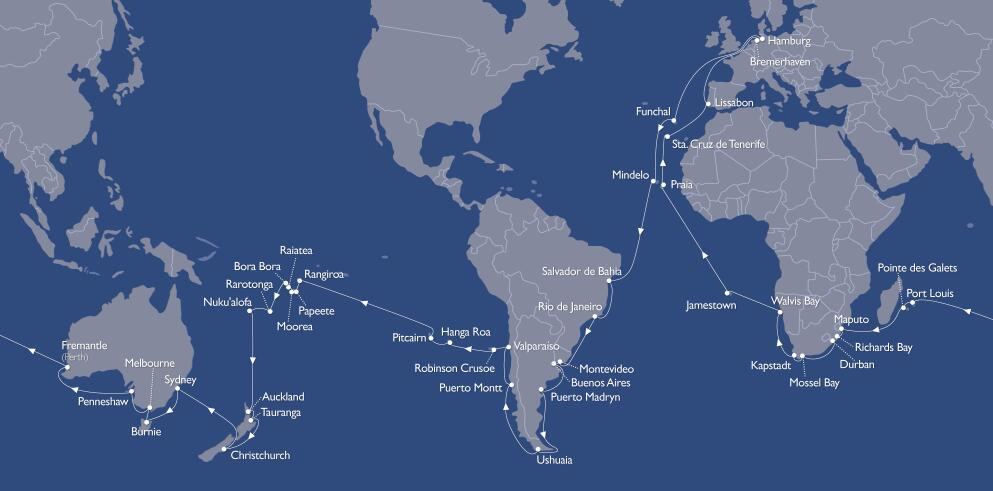 123 Tage Kreuzfahrt Weltreise auf der MS Astor 33905