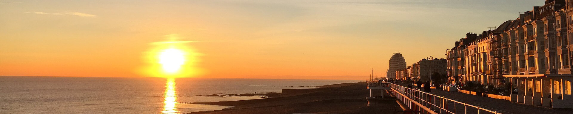Rundreise Großbritannien Southampton Sonnenuntergang