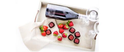 Welcome Package (Flasche Sekt, Obst und Schokolade auf dem Zimmer)