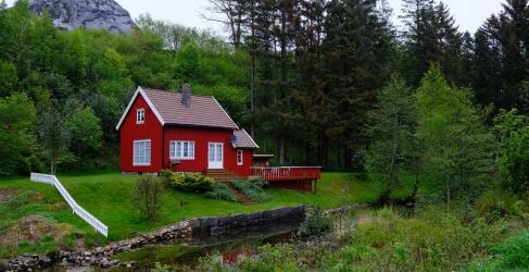 Norwegen Rundreise Fischerhütte