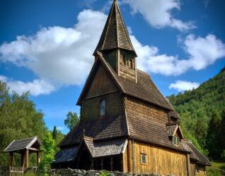 Norwegen Rundreise Stabkirche Urnes