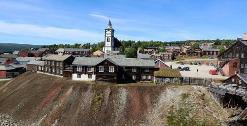 Bergbaustadt Roros Norwegen Rundreise