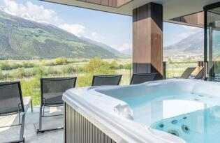 Wunderschönes Outdoorhotel mit hohem Wellnessfaktor und Panoramaausblick