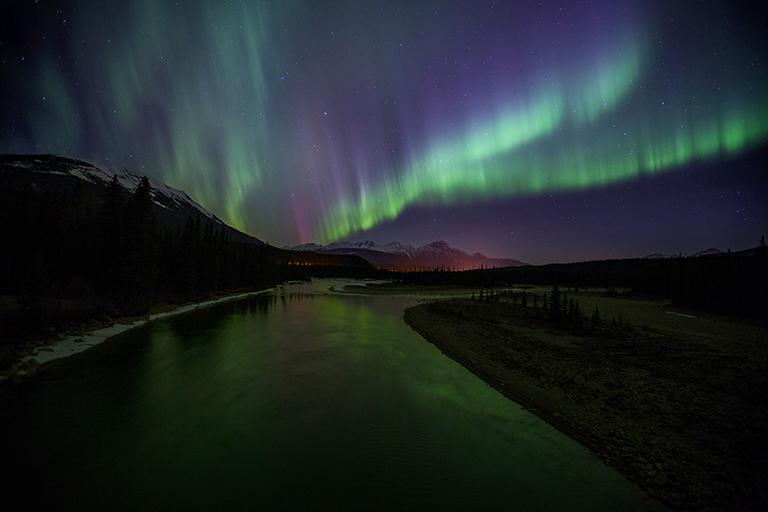 Aurora Borealis Maligne Lake