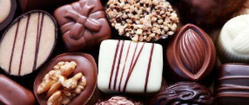 Süßigkeiten auf dem Zimmer