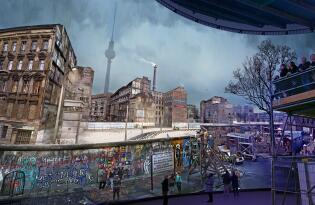 Der Alltag zu Zeiten der Berliner Mauer als spektakuläres Panorama