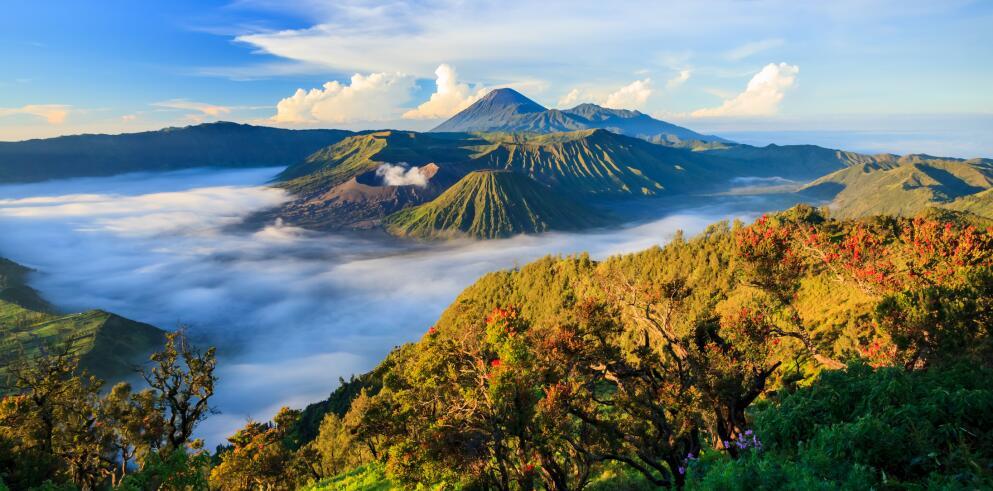 Besteigen Sie riesige Vulkane, wie den Mount Bromo