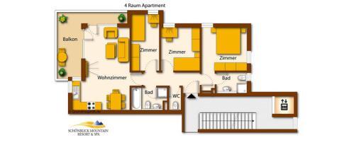 Apartment 2 für bis zu 8 Personen