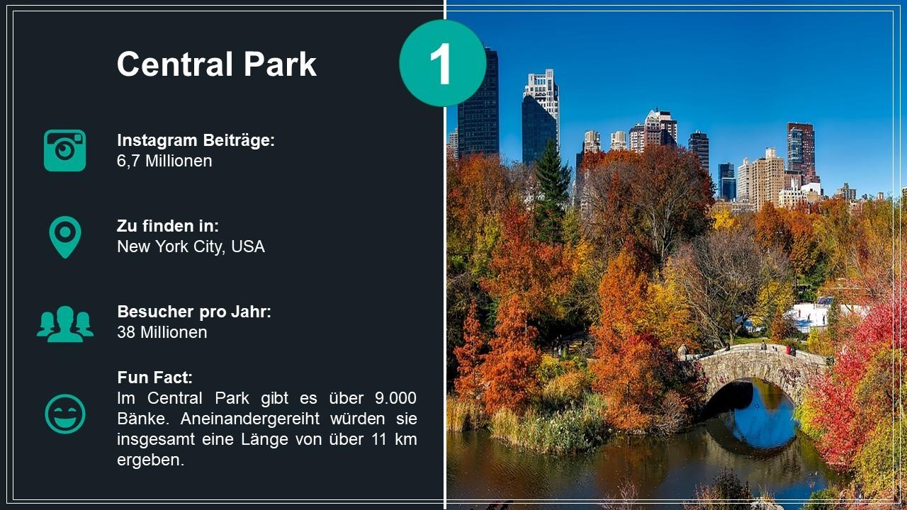 Platz 1: Central Park in New York City (USA)