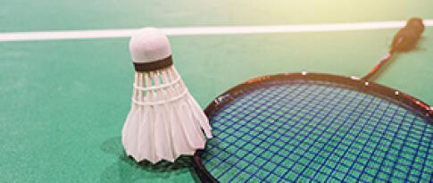 1 Stunde Nutzung des Squash- oder Badminton Courts