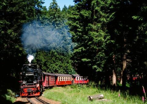 Brockenbahn Zugfahrt