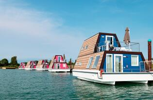 Urlaub im Hausboot auf dem türkisfarbenen Tagliamento