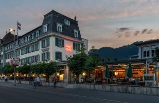 Hoch hinaus in Interlaken in der Schweiz